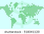 world map made signs of the us... | Shutterstock .eps vector #518341120