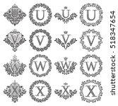 vintage monograms set of... | Shutterstock .eps vector #518347654