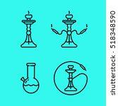 hookah shisha smoking pipe bong ...   Shutterstock .eps vector #518348590