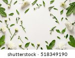 Floral Background With A Blank...