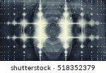 abstract shaman art fractal... | Shutterstock . vector #518352379