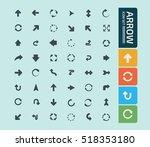 arrow sign icon set vector | Shutterstock .eps vector #518353180