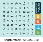 medical icon set vector | Shutterstock .eps vector #518353210