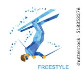 winter sports   freestyle... | Shutterstock .eps vector #518353276