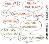 speech bubbles with original... | Shutterstock .eps vector #518357644