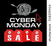 cyber monday  big sale ... | Shutterstock .eps vector #518359414
