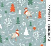 seamless christmas pattern | Shutterstock .eps vector #518361670