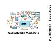 illustration of smm   social... | Shutterstock .eps vector #518365018