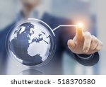 worldwide business concept with ... | Shutterstock . vector #518370580