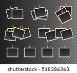 blank photo frame on...   Shutterstock .eps vector #518386363