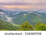 Stock photo scenic view of sunrise mountains at northeast thailand mountain mountain range climbing 518389558