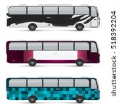 mockup of passenger bus. design ... | Shutterstock .eps vector #518392204