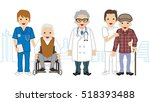 male medical occupation team... | Shutterstock .eps vector #518393488