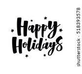Happy Holidays Handlettering...