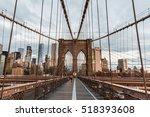 new york  brooklyn bridge  a... | Shutterstock . vector #518393608