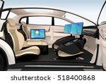 autonomous car interior design. ...   Shutterstock . vector #518400868