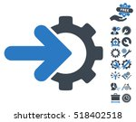 gear integration icon with... | Shutterstock .eps vector #518402518