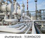 heat exchangers in refineries.... | Shutterstock . vector #518406220