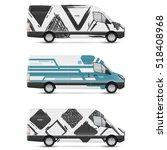 mockup white bus. set of design ... | Shutterstock .eps vector #518408968