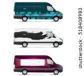 mockup white bus. set of design ... | Shutterstock .eps vector #518408983