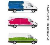 mockup white bus. set of design ... | Shutterstock .eps vector #518408989