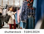 beautiful woman shopping trendy