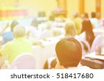 speaker at business conference... | Shutterstock . vector #518417680