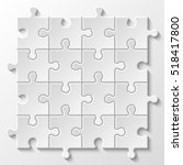 puzzle piece business... | Shutterstock .eps vector #518417800