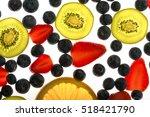 Fresh Fruits Kiwi Blueberry...