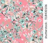 seamless watercolor pattern... | Shutterstock . vector #518430106