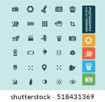 photography icon set clean... | Shutterstock .eps vector #518431369