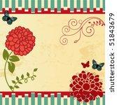 floral frame | Shutterstock .eps vector #51843679
