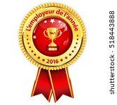 best employer of the year ... | Shutterstock .eps vector #518443888