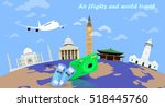 air flights and world travel | Shutterstock .eps vector #518445760