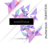 geometric background template... | Shutterstock .eps vector #518447554