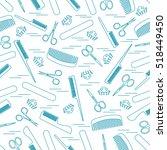 cute pattern of scissors for... | Shutterstock .eps vector #518449450