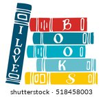 Vector Illustration With Books...