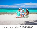 happy beautiful family with... | Shutterstock . vector #518464468