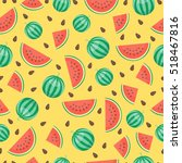 fruits watermelon seamless... | Shutterstock .eps vector #518467816