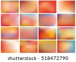set of 16 different blurred... | Shutterstock .eps vector #518472790