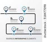 business infographic template.... | Shutterstock .eps vector #518477098