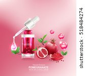 pomegranate collagen and serum... | Shutterstock .eps vector #518484274