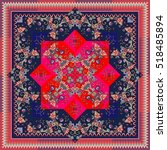 beautiful oriental scarf with... | Shutterstock .eps vector #518485894