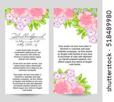 invitation with floral... | Shutterstock .eps vector #518489980