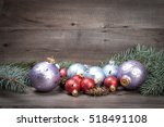 christmas background with... | Shutterstock . vector #518491108