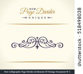 new calligraphic page divider... | Shutterstock .eps vector #518498038