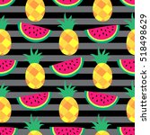 seamless vector pattern with... | Shutterstock .eps vector #518498629