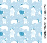 seamless pattern with cute... | Shutterstock .eps vector #518500693