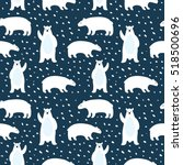 seamless pattern with cute... | Shutterstock .eps vector #518500696
