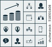 set of management icons on... | Shutterstock .eps vector #518501608